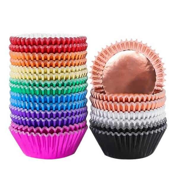 Colors foil Cupcake liners