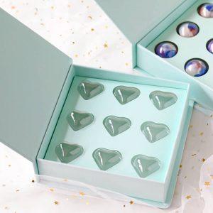heart shape bonbons chocolate box