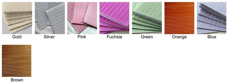 corrugated emboss foil wrapper color choose
