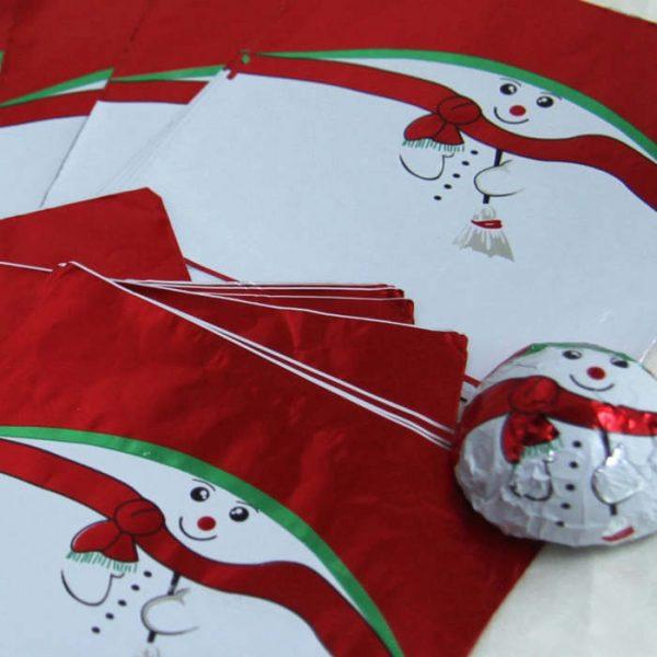 snowman print foil wrapper