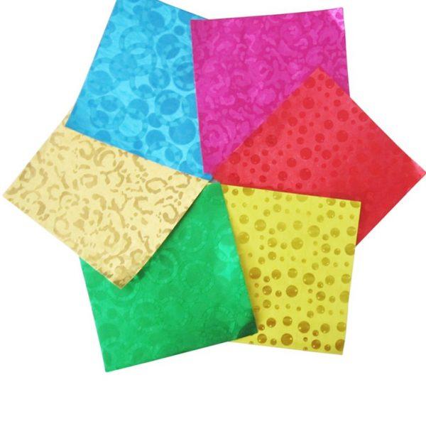 Emboss foil wrapper sheets