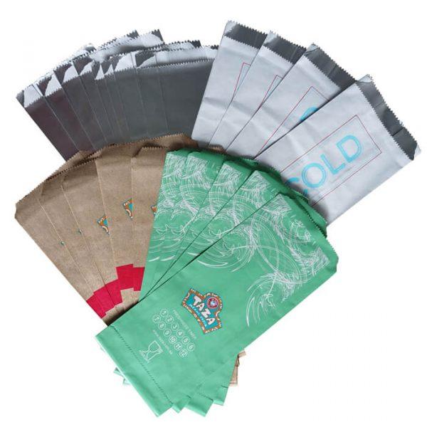 Different print foil BBQ bags
