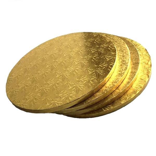 Gold round emboss cake drum
