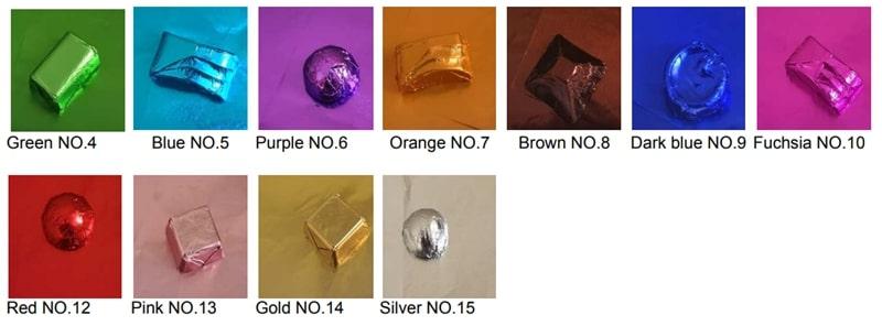 Foil wrapper color available