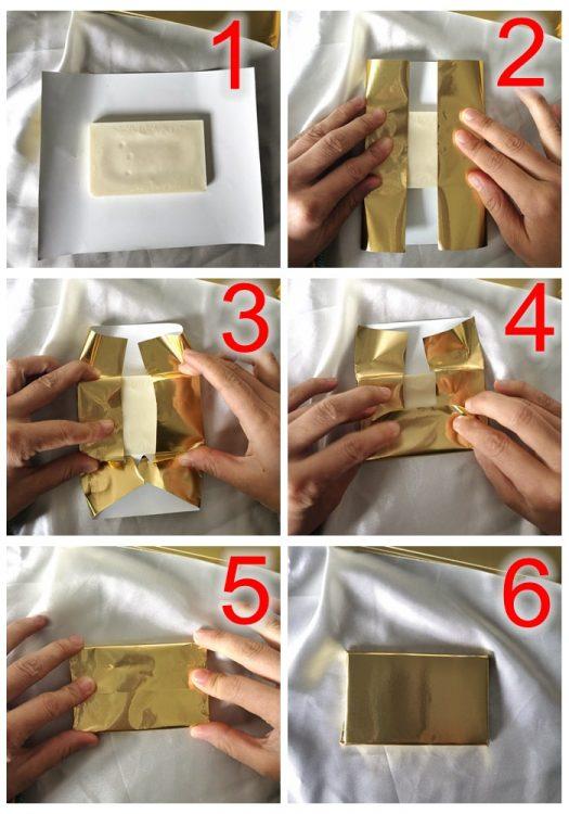 how to wrap chocolate bar