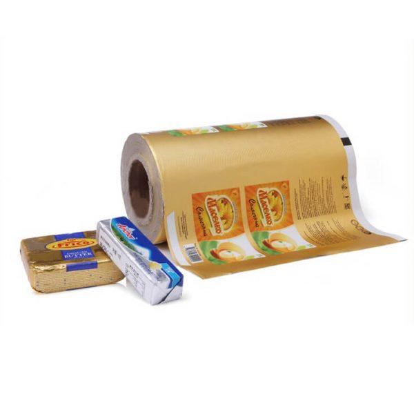 Butter foil wrapper in rolls