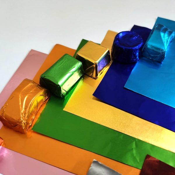 11 colors shiny foil sheet