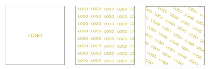 foil logo layout